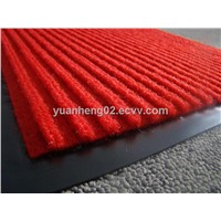 Ribbed carpet mat ,door mat with PVC backing