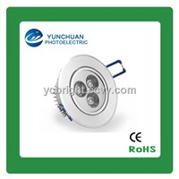 Round 3W Aluminum LED Ceiling Lamp