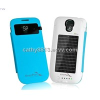 S view cover Solar and Battery case with wakeup/sleep function  for Samsung Galaxy S4