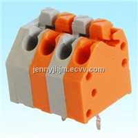Screwless type terminal blocks with 3.5mm pitch 2-24 poles