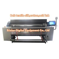 Silk cotton acid ink digital belt textile printing machine high production 1440dpi fabric printer