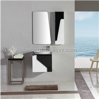 Simple modern fashional waterproof wooden small wall mounted bathroom vanity FS1305