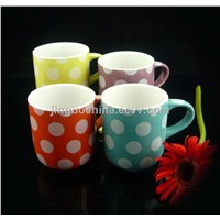 Glazed Ceramic Polka Dot Coffee Mug