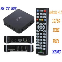 Support XBMC AMLogic 8726 MX Smart tv box 1GB RAM 8GB Android 4.2 HDMI AV WIFI