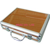 Tan Waterproof Aluminum Tool Cases / Hand Tool Boxes With Locks