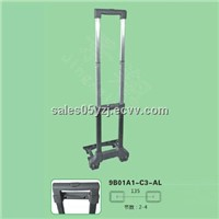 Telescopic trolley handle, luggage parts, bag parts