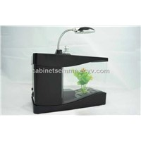 USB Desktop Aquarium Mini Fish Tank with Lamp and Pen Holder