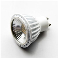 White shell 6W GU10 LED cup