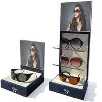 Wood And Acrylic Glasses Display Stand With CE Approved