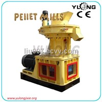 Wood sawdust pellet mill with ring die