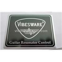 anodized aluminum label, anodized metal sticker