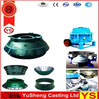 bowl liner of cone crusher, spares of cone crusher, mantles of cone crusher