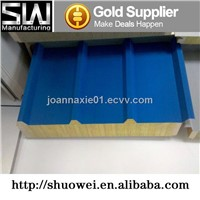 high quality sandwich rock wool panel for buildings