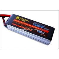 kudian Li-po 5200mah 11.1V 35C with Dean Connector rc lipo battery for RC helicopter/boat