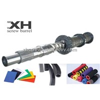 pin type screw and barrels for rubber machine