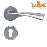 stainless steel door solid handle lever handle with cover