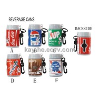 pet waste bag holder (beverage cans)
