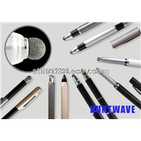 Dual-use touch pen stylus with micro-knit fiber capacitive pen tip and multi function design
