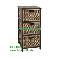 Vietnam Crafts Water Hyacinth Cabinet Storage 3 Drawer