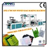 high speed Eco nonwoven bag making machine , zipper / T-shirt bag machine