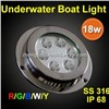 ip68 RGB color marine led underwater light for boat