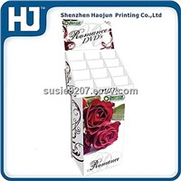 Free standing cardboard display for greeting cards, paper display stand for DVD,CDs and games