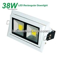 High Quality 38W COB rectangular LED downlight 230V With Cool Price!!!