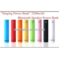 High Quality Safety Portable Wireless Bluetooth Speaker with 5200mah Power Bank