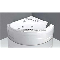 Two comfortable headrests hottub corner bathtub
