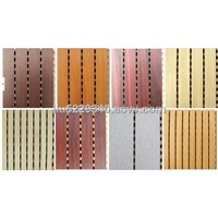 Wooden soundproofing panels wooden absorber panel