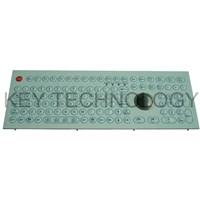 108 Keys IP65  industrial Membrane Keyboard With Optical Trackball