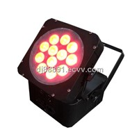 12x10w RGBW 4in1 / 5in1 wireless led Battery par light