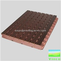 15mm night club grooved wooden sound insulation board