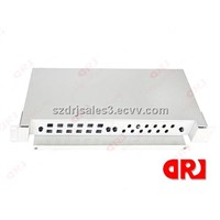 1U 19 inch SC/FC/LC/ST 16 ports FTTH corning fiber optic patch panel