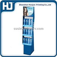 2014 new design display shelf,shampoo/ cosmetic cardboard display stand