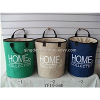 2014 new style canvas home storage basket