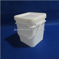 20 L Square Plastic  Pail,Wash Powder Packaging Bucket,Any Printing Accepted