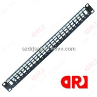 24 ports empty metal patch panel