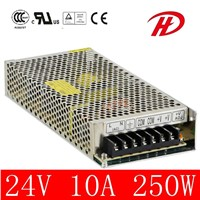 250W 12V/24V LED Power Supply with CE RoHS Certificate (HS-250W)