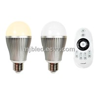 2.4G Remote Control Colour Temperature Adjustable 9W LED Bulbs Dimmable & Support WiFi