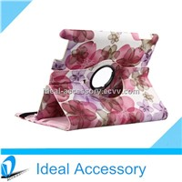 360 Degrees Rotating Stand Flower Case for iPad 2,3,4 Air With Smart Cover Wake/Sleep Function