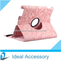 360 Degrees Rotating Stand Flower Smart Cover Leather Case for Apple iPad 2/3/4/Air