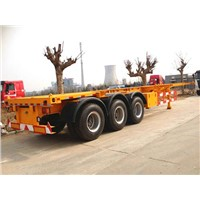 3 Axles Skeleton Container Semi Trailer Loading 40tons for 12ft Container