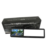 4.3 Inch Bluetooth Rearview Mirror with Built-in GPS without Bluethooth and AV IN 4GB load 3D MAP
