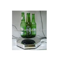 4 Beer Bottle Floating Display With 8pcs Led,Magnetic Levitation Device For Bottles