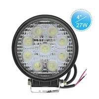 "4"" Round 27W High Powered LED Work Light for Truck, SUV, ATV, Offroad"