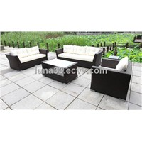 5Pcs Alu.&Rattan Sofa set