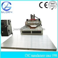 8 Spindles Rotary Axis CNC Engraving Machine