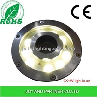 9W LED Fountain Light with stainless steel,IP68