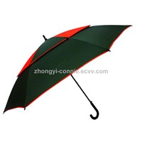Advertising double canopy windproof golf umbrella